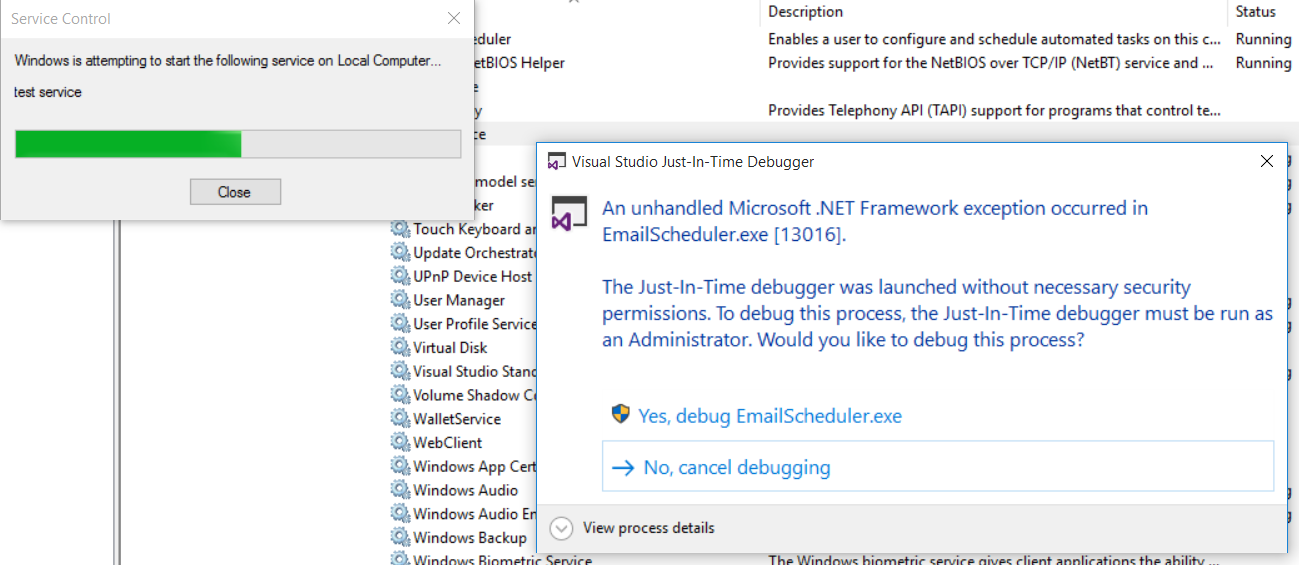 launch the debugger